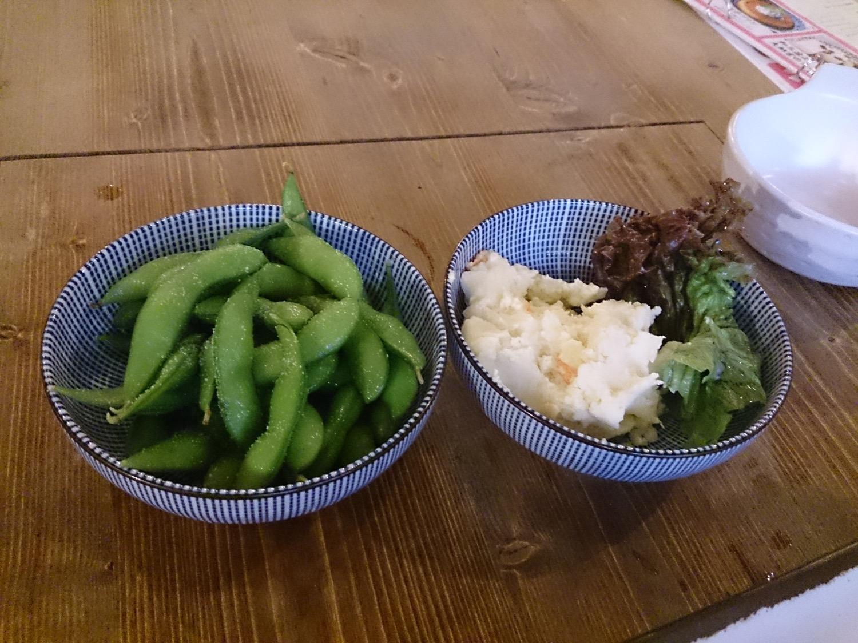 枝豆とポテトサラダ