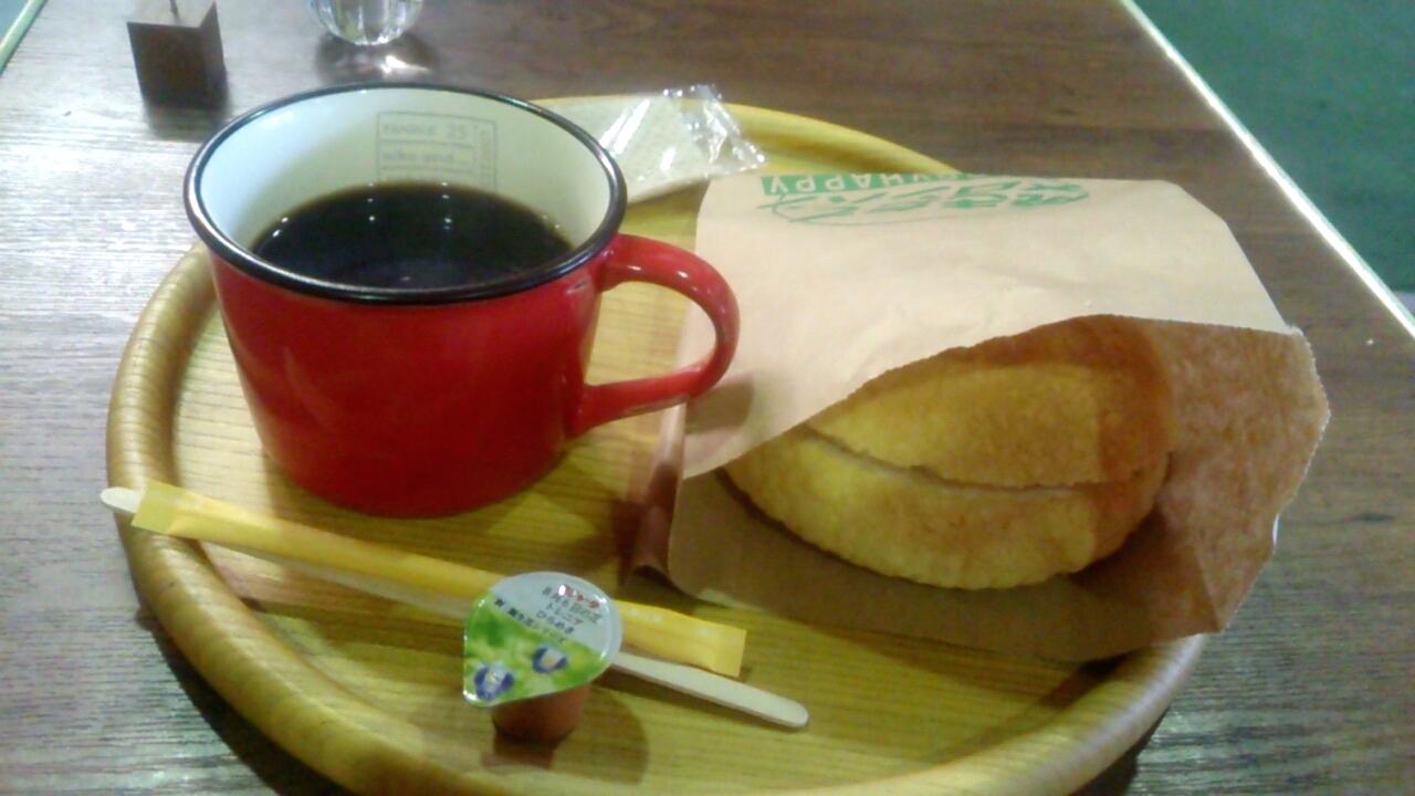 メロンパンとコーヒー