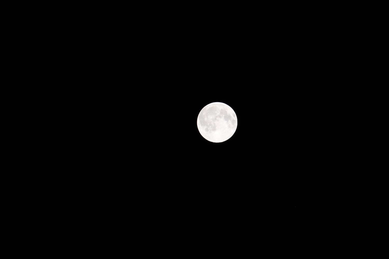 ブルームーンということで、満月を撮影してみた!