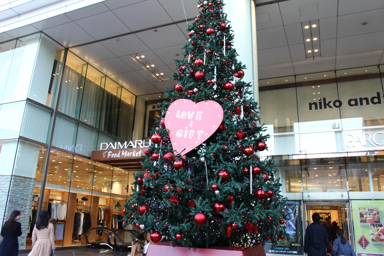 浦和パルコのクリスマスツリー
