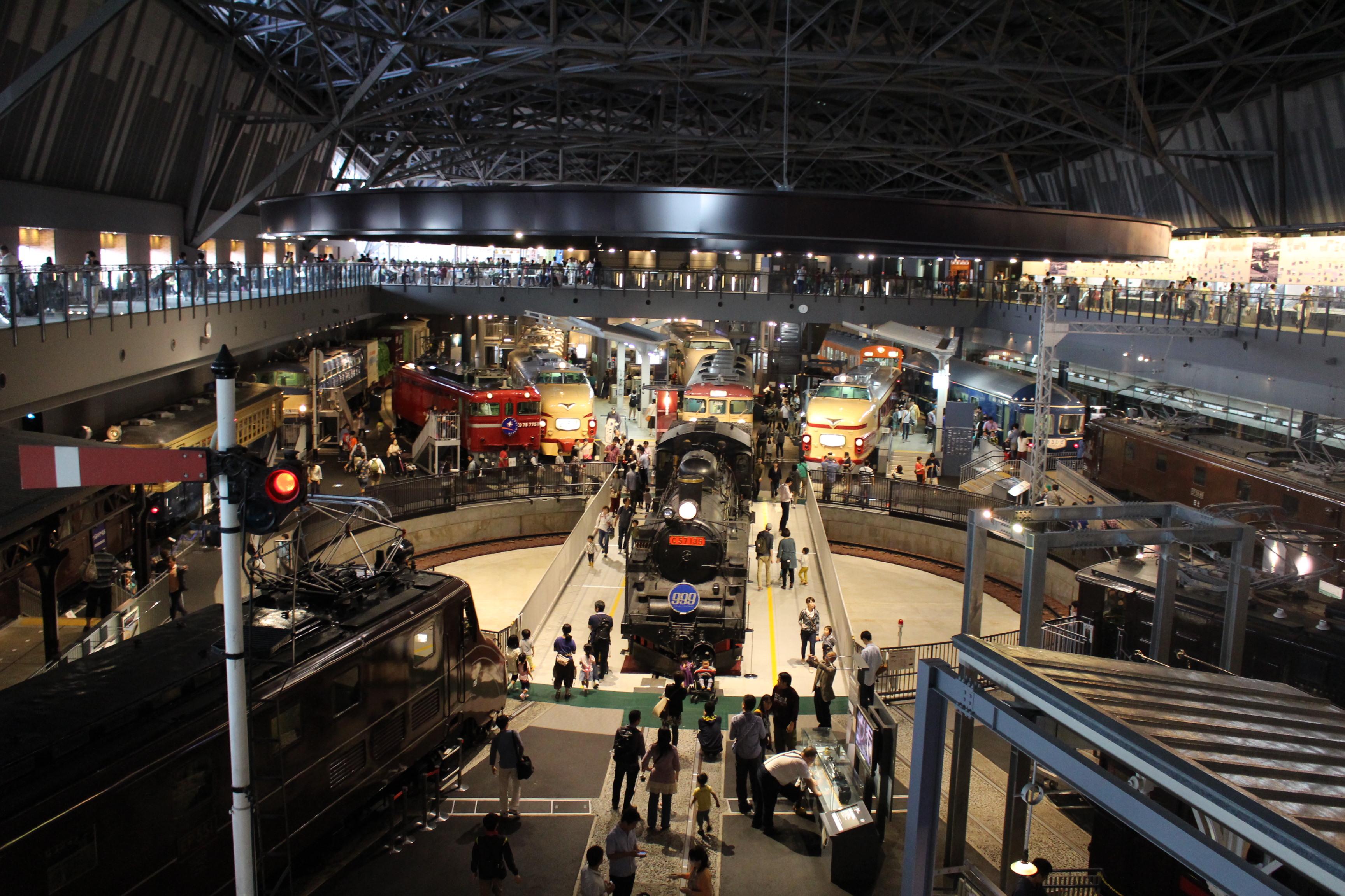 電車の展示ゾーン