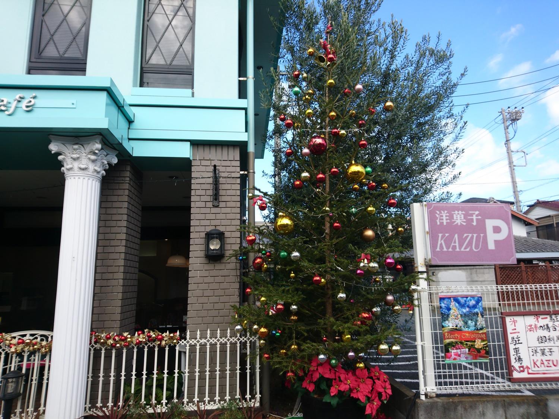 洋菓子KAZUのクリスマス装飾