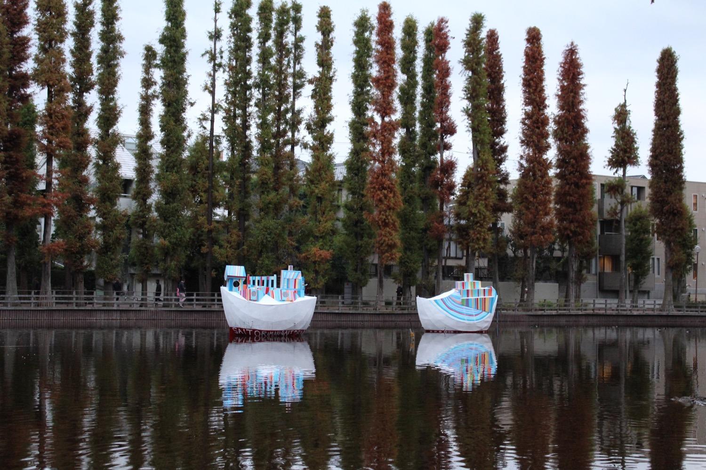 トリエンナーレの船
