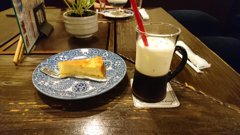 チーズケーキと蘭豆オブアイス