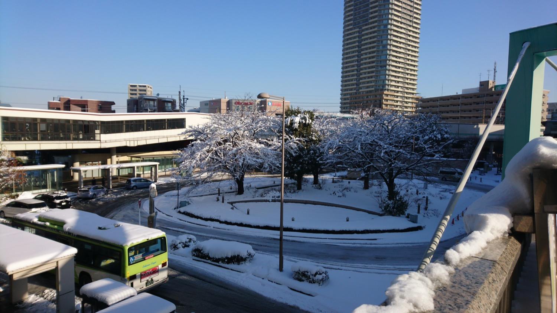 雪の武蔵浦和